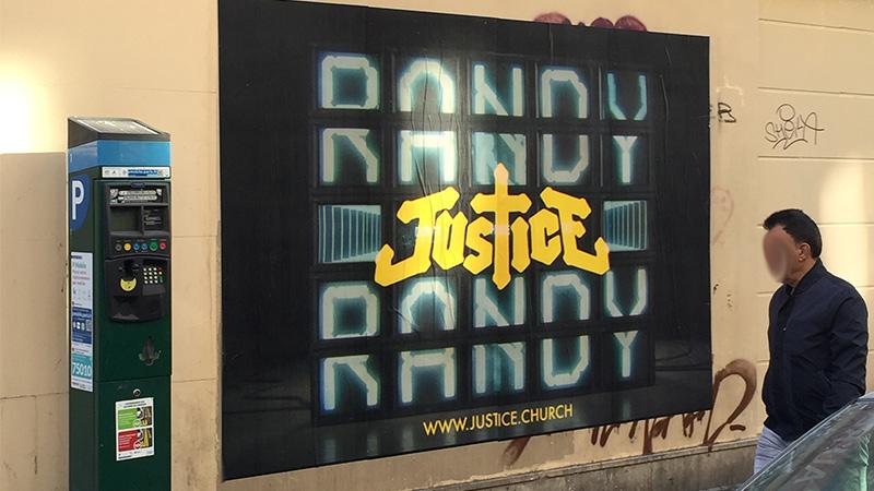 AFFICHAGE GÉANT JUSTICE